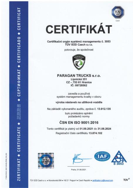 certifikát CZ