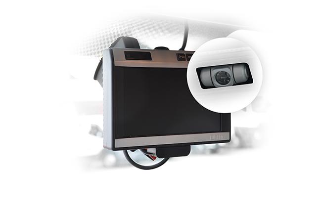 Couvací kamera sLCD monitorem