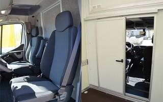 Průchod mezi kabinou řidiče a nástavbou